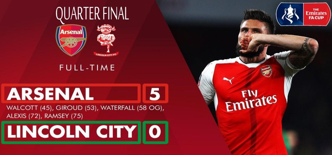 Arsenal lolos semifinal FA CUP
