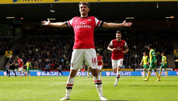 Aaron Ramsey Goal dari Norwich City