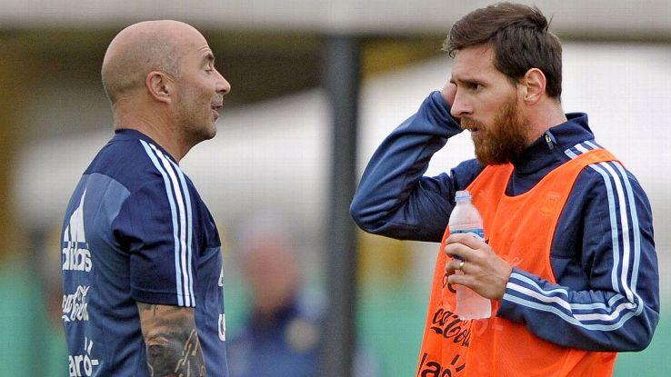 Messi and Sampaoli
